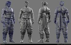 Blade Master(Realtime character)-Modeling. by Ki Yong Sim   3D   CGSociety