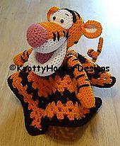 Ravelry: Tiger Lovey Blankie pattern by Knotty Hooker Designs