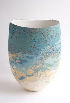 clare conrad stoneware vessel - 30 cm. ht.
