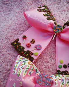 #moños #yummybows #yummy #cream #chocolat #lollipop #candy #delicious #pink #socute #sweet #handmade #hechoenchiapas #hechoconamor #avrilaccesorios90