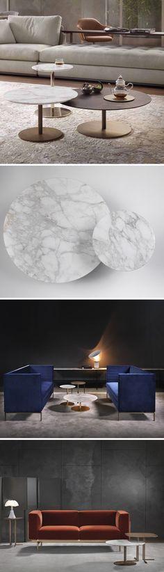 Der Runde Marmor Couchtisch Break Ist In Drei Farbausführung, Größen Und  Höhen Erhältlich. #