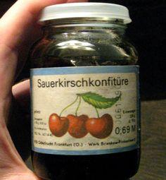 :: ORIG. DDR LEBENSMITTEL MARMELADE SAUERKIRSCH-KONFITÜRE 230g EVP 0,69 M ::   eBay