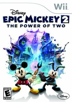 Wii U Disney Epic Mickey Power of Two returns Mickey Mouse and Oswald the Lucky Rabbit to Wasteland, an alternate world filled with 80 years of forgotten Disney . Disney Cd, Disney Epic Mickey 2, Heros Disney, Disney Games, Disney Stuff, Disney Characters, Disney Music, Disney Toys, Deus Ex