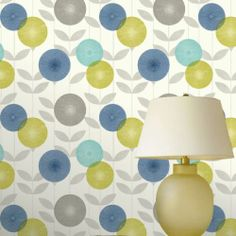 Blue / Green / Grey - FD30802 - Monroe - Dandelion Clocks - Fine Decor Wallpaper | eBay