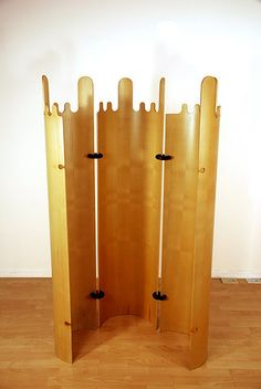Giovanni Offredi; Molded Plywood Modular Screen for MC, 1968.