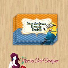 Tag Minnions | Marcia Arts Designer | Elo7