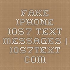 Fake iPhone iOS7 Text Messages | iOS7text.com