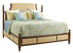 Tommy Bahama Home Bali Hai 593-144C 6/6 Orchid Bay Upholstered Bed   Baer's Furniture   Upholstered Bed Boca Raton, Naples, Sarasota, Ft. Myers, Miami, Ft. Lauderdale, Palm Beach, Melbourne, Orlando, Tampa, Florida
