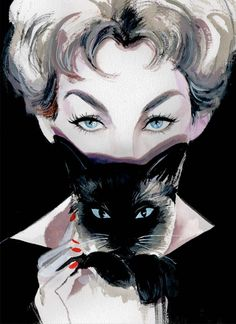 """Kim Novak-the OG crazy cat lady  HD: If you haven't seen """"Bell, Book, and Candle"""" you have a treat in store."""