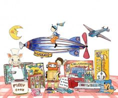 "Yukie Yasui, ""Antique Toy Shop"" on LittleCollector"