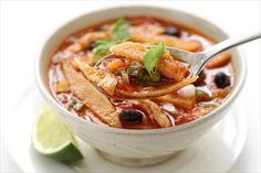Receta de sopa de tortilla: