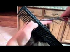 """How to do a """"short"""" haircut – Super AAAAmazzzing haircut tutorial! She does a great job showing/walking you thru the steps! I cut the boys hair most of the time but use clippers and I now know how to do a """"real"""" haircut! If you have boys watch this!"""