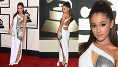 she is a little girl w magic! #arianagrande #grammys2015 #versace