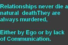 Ego & Lack of Communication