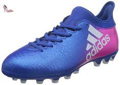 adidas Messi 16.2 FG, Chaussures de Futsal Homme, Bleu (Blue/FTWR White/Solar Orange), 42 2/3 EU