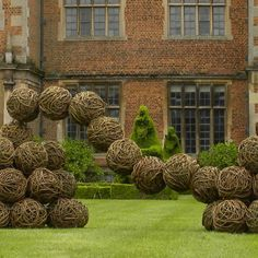 Rachel Carter's 'Willow Twist' is shown on the lawn of Doddington Hall, Lincolnshire