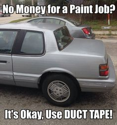 Duct tapes many uses...