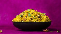 How to make lamb pilau with lentils, almonds and currants.