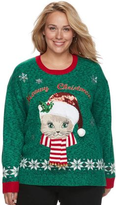 f106a8bd6ce Fashion Avenue Us Sweaters Plus Size Fashion Avenue US Sweaters Applique  Ugly Christmas Sweater Be the