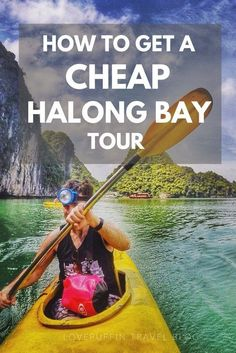 Get a cheap tour in Halong Bay, Vietnam without the headache of going through travel agents. It's a money saving DIY hack!