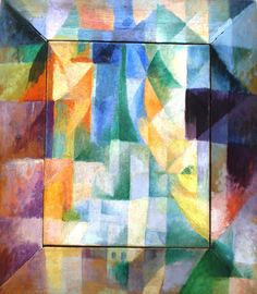 Robert Delaunay, Simultaneous Windows on the City, 46 x 40 cm, Hamburger Kunsthalle, an example of Abstract Cubism Sonia Delaunay, Robert Delaunay, Example Of Abstract, Abstract Art, Cubist Paintings, Georges Braque, Fauvism, Oil Painting Reproductions, Art Moderne