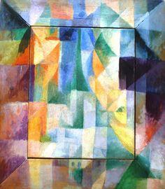 Robert Delaunay 'Fenster-Bild' (Les Fenetres simultanée sur la ville. Ire partie, 2e motif, Ire réplique) (The Simultaneous Windows), 1912, Kunsthalle (Museum of Art), Hamburg, Germany by hanneorla, via Flickr