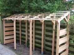 Outdoor Firewood Rack, Firewood Storage, Shed Storage, Log Store, Wood Shed, Good Ol, Outdoor Structures, Home Decor, Frame