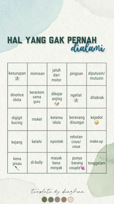 Bingo Template, Templates, Virgo Personality, Instagram Story Questions, Cinta Quotes, Creative Instagram Stories, Wonder Quotes, Quotes Indonesia, Instagram Story Template