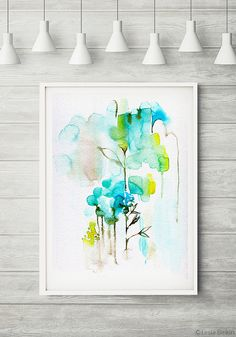 The Morning abstract painting watercolor by LesiaBinkinArt on Etsy