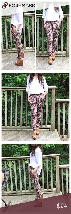 🆕 printed harem  pants Side pockets pull on great comfortable fit printed Harem pants  PLEASE Use the Poshmark new option you can purchase and it will give you the option to pick the size you want ( all sizes are available) BUNDLE and save 10% ( no trades price is firm unless bundled) Pants