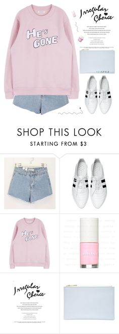 """""""you deserve all the happiness in the world"""" by alienbabs ❤ liked on Polyvore featuring moda, Momewear, Chryse, Irregular Choice, Whistles, The Face Shop, clean, koreanfashion, organized y fallfashion"""