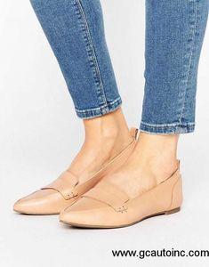 eaca92c95fb5b United States Spring Summer 2018 ALDO - ALDO Cherryhill Nude Leather Flat  Shoes Nude Womens