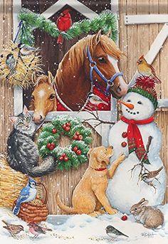 Stable Visitors Snowman Christmas Garden Flag Dog Horse C... https://www.amazon.com/dp/B017DYH1VQ/ref=cm_sw_r_pi_dp_U_x_amoxAbCPKAR2H