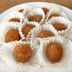 Estas yemas de batata se llaman así por su apariencia y color de yemas porque no llevan huevo y son facilísimas de preparar.