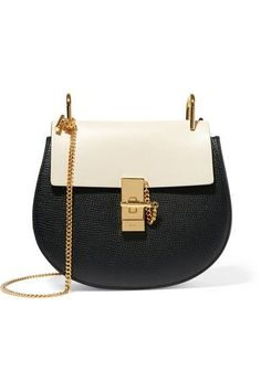 Chloé - Drew Small Textured-leather Shoulder Bag - Black - one size