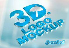 Mock Up de Logo en 3D con Efecto Metálico | Jumabu! Design Tools - Vectorizados - Iconos - Vectores - Texturas
