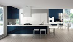 i like the color combination. Küchen Design, Dining Table, Furniture, Home Decor, Portal, Kitchens, Spaces, Curtains For Kitchen, American Kitchen