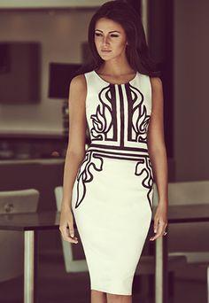 Fashion Floral Print Round Neck Sleeveless Dress