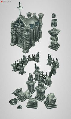 graveyard mosoleum concept art - Google Search