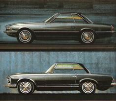 "Paul Bracq - Mercedes-Benz W113 ""Pagoda"" Studies"