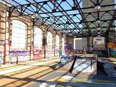 Essex St Academy Rooftop skatepark and graffiti