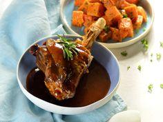 Barna sörös báránycsülök édesburgonyával! | Nők Lapja Beef, Food, Meat, Eten, Ox, Ground Beef, Meals, Steak, Diet