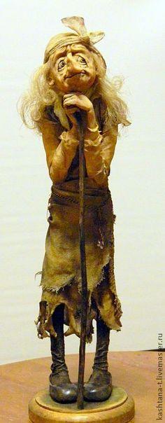 """Коллекционные куклы ручной работы. кукла БАБА-ЯГА """"И где же мой Иванушка?"""". Татьяна Кашицкая *Характерные куклы. Ярмарка Мастеров."""