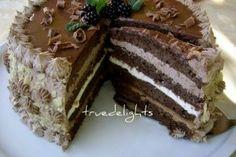 Csokis karamel krémes torta - Finom desszert receptek képekkel bármilyen alkalomra