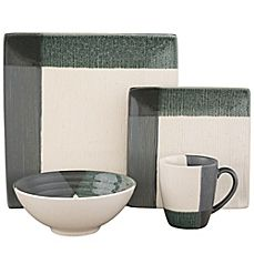 image of Sango Odyssey 16-Piece Dinnerware Set in Blue