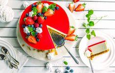 Over 60 Kakeoppskrifter fra Melange Pavlova, Caprese Salad, Kiwi, Avocado Toast, Panna Cotta, Baking, Breakfast, Ethnic Recipes, Desserts