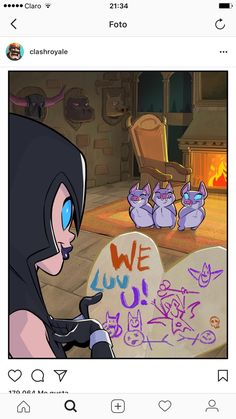The Nightwitch and her kids 😍 Clash Royale Bruja, Clash Of Clans, Clash Royale Memes, Clash On, Really Funny Memes, Hilarious Memes, Kids Shows, Kawaii, Fanart