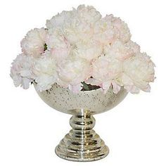"""18"""" Ivory Heather in Stoneware Urn, Faux 