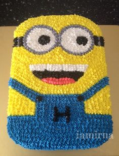 Piped cream Minion cake