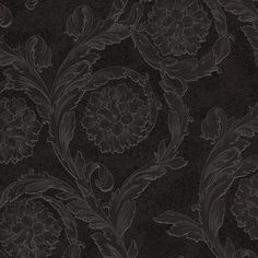 Versace Creamy Barocco Motif Wallpaper - Charcoal/Chocolate - 93588-4 ($125) ❤ liked on Polyvore featuring home, home decor, wallpaper, brown, dark grey wallpaper, pattern wallpaper, chocolate wallpaper, textured wallpaper and brown pattern wallpaper
